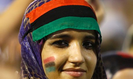 ...  with the overthrow of Muammar Gaddafi almost complete, many Libyan women are asking whether it's their revolution too. Description from theguardian.com. I searched for this on bing.com/images