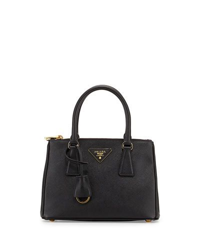 729d34815ef6 PRADA Saffiano Mini Double-Zip Tote Bag