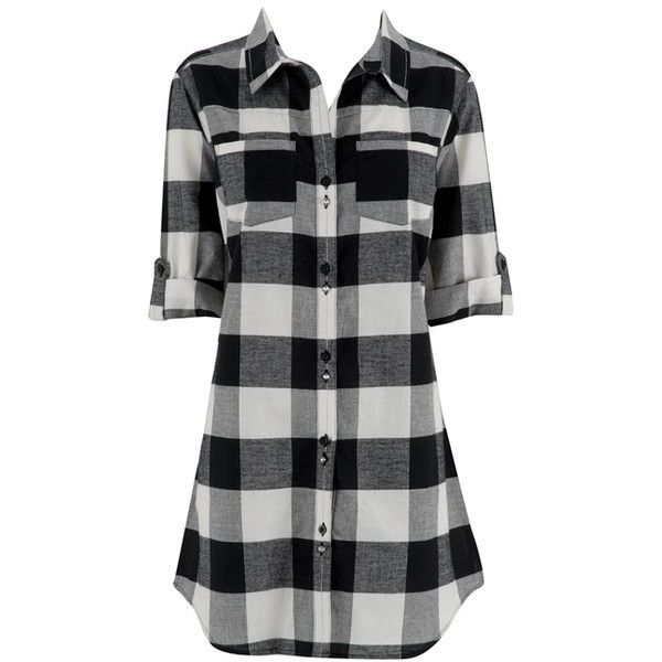 Ladies Manstyle Nightshirt (17 CAD) found on Polyvore featuring women's fashion, intimates, sleepwear, nightgowns, salewomensview all sale, tops, women's clothing, sleep shirts and night shirt