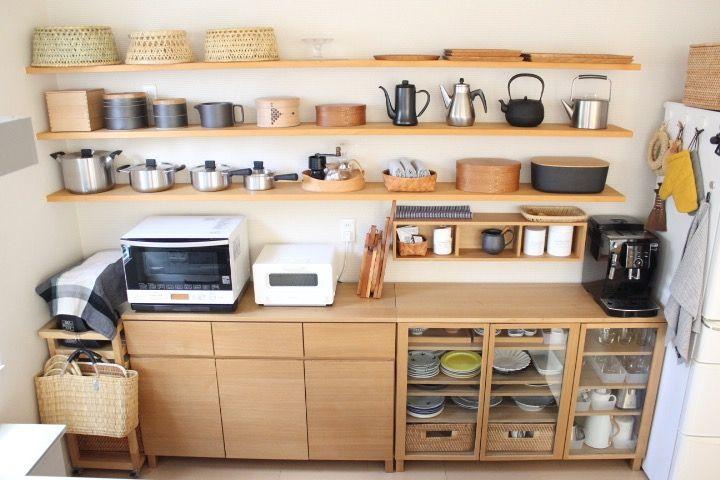 キッチンの模様替え Ducks Home 楽天ブログ 無印キッチン収納 キッチン 収納棚 造作 キッチンインテリアデザイン