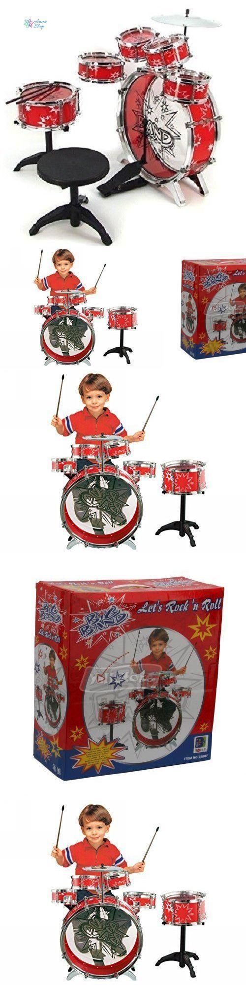 Music and Art 11735: 11 Pc Kids Drum Set Boy Girl Musical Instrument Toy Playset Starter Kit Gift Red -> BUY IT NOW ONLY: $43.98 on eBay!