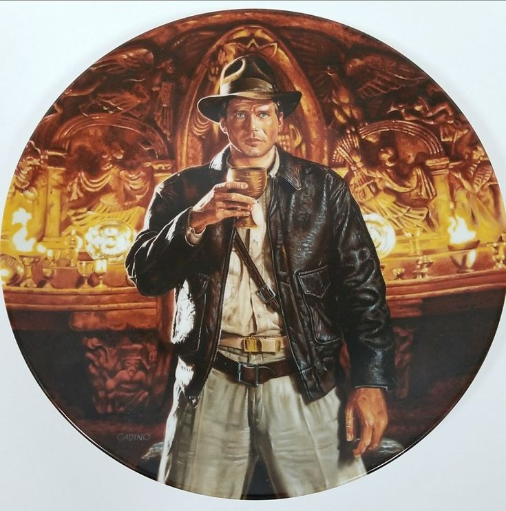 Indiana Jones Collector Plate Last Crusade Holy Grail 6th in Series Number 659A