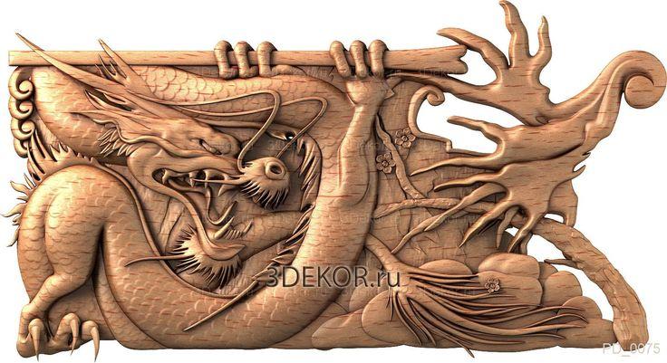 Китайский дракон. Панно декоративное из дерева. Резные изделия, готовые/на заказ.