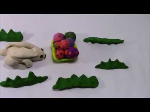 Play Doh Easter Bunny Stop Motion Conejo de Pascua Coelhinho da Pascoa L...