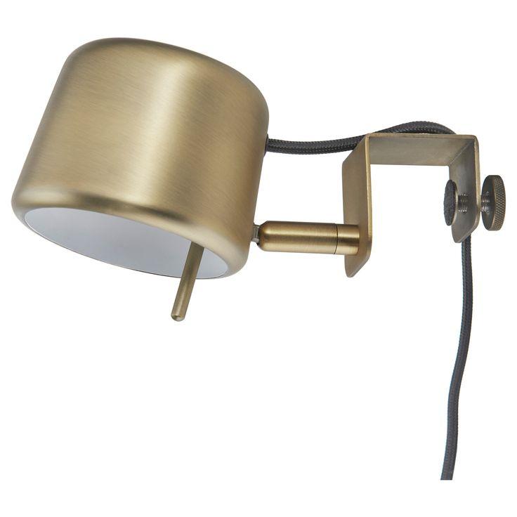IKEA - VARV, Klämspot, , Lätt att fästa på huvudgaveln för läsbelysning i sängen.Belysningen går att dimma, så du kan välja det…