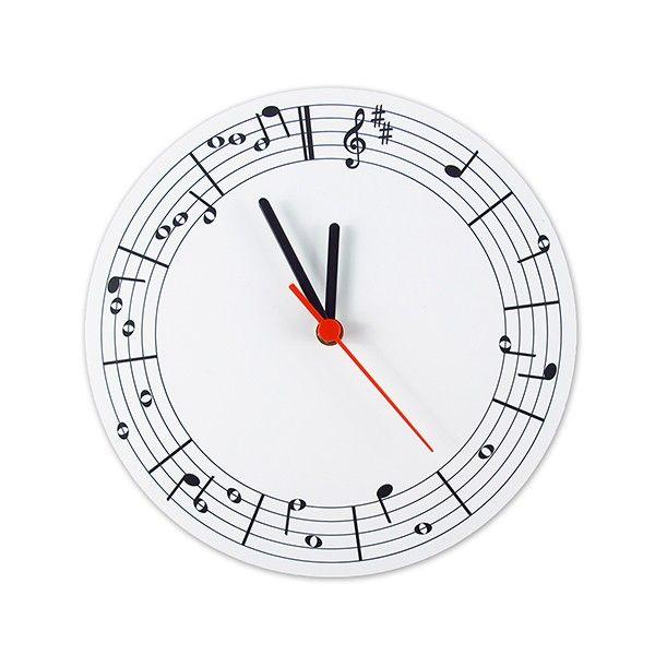 Relógio de Parede Notas Musicais