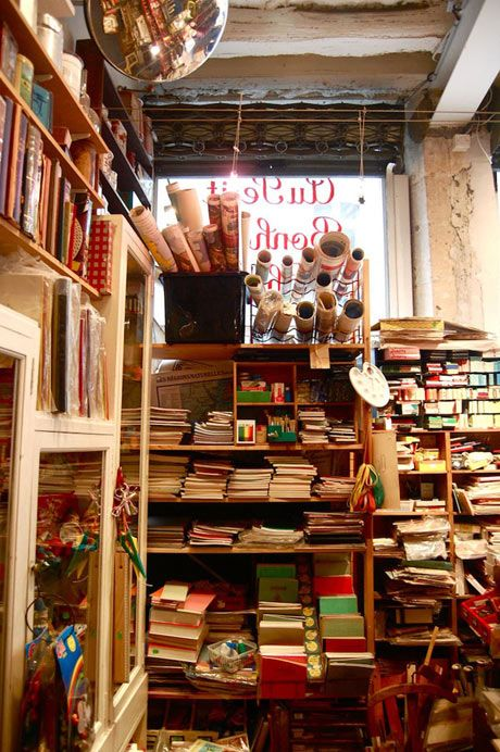 Au Petit Bonheur de Chance   This is one of the hidden treasures of Paris. In this tiny shop you can find old notebooks, kitchenware, toys, and almost any other random trinket you could ever imagine.  • 3 rue Saint Paul 75004, aupetitbonheurlachance.fr, metro: Saint Paul or Pont Marie