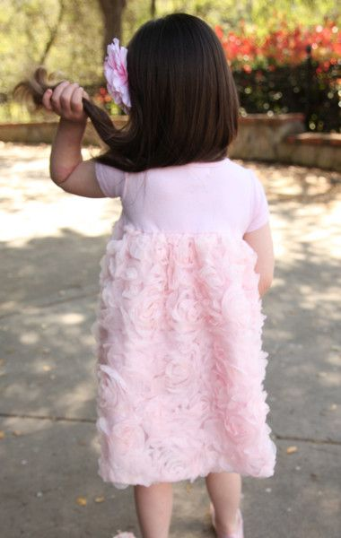 Bunnies Picnic - Truffles Ruffles Rose Dress in Blush - Boutique Clothing for Girls and Boys