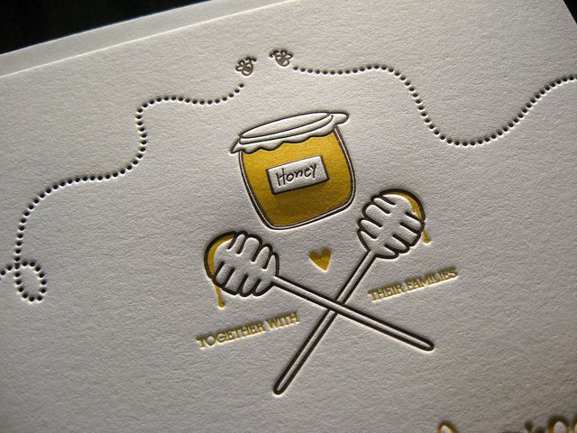 The Bees Knees Letterpress - Honey Closeup by dolcepress, via Flickr