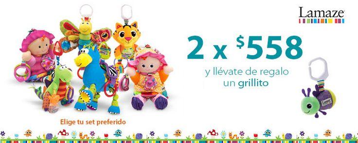 Consiente a tu bebé con los juguetes Lamaze. Están hermosos y te ayudarán a estimular los sentidos de la vista, del tacto y del oído de tu bebé.  Walmart.com.mx, Hacemos Clic!