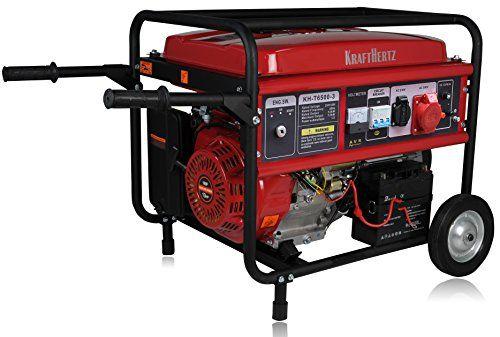 Force Hertz–Groupe électrogène à Essence Générateur de courant de secours Générateur électrique 5,5kW avec courant fort 230+ 400V