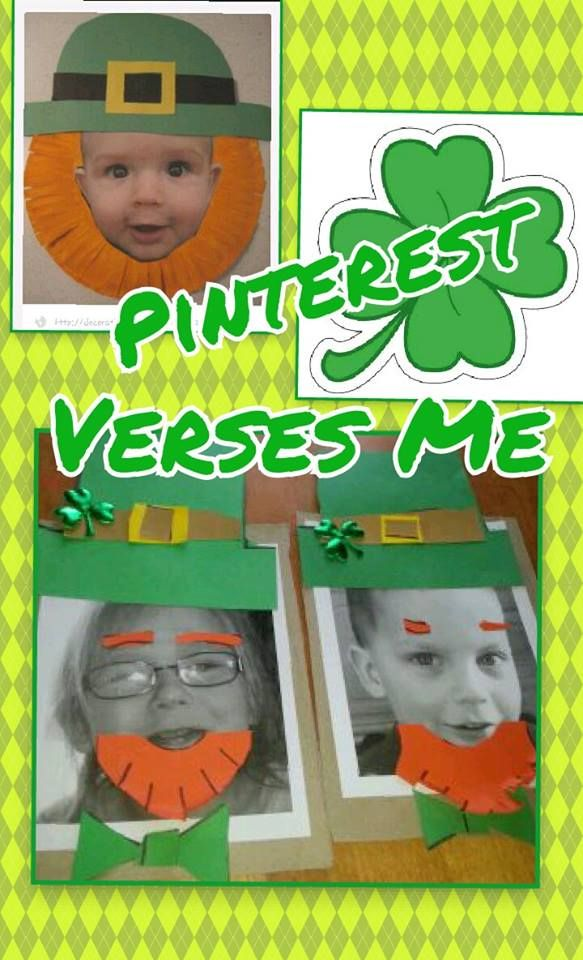 St Patricks Day - turn yourself into an leprechaun! I didnt have a tutorial to follow so I cant give credit where needed. But You can see I drew shapes and the kids cut & glued the pieces. I enlarged their photo on MS word and printed in B&W - Easy! & Fun!