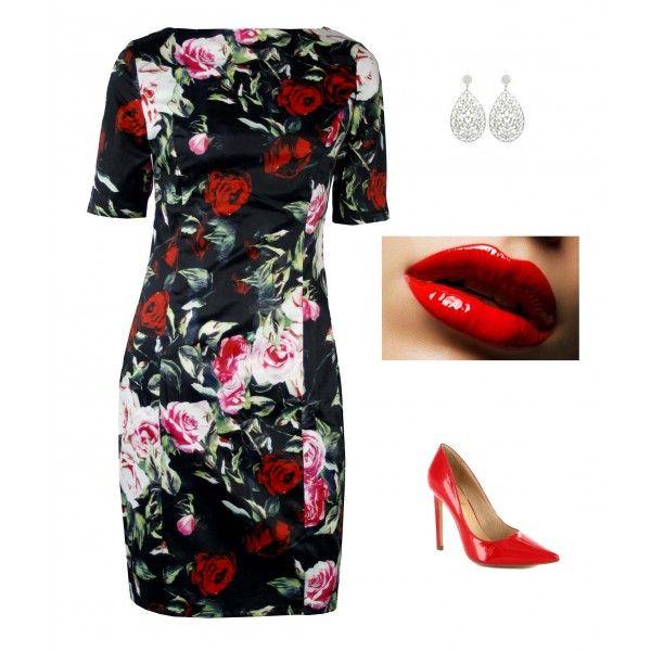 Xyleena Rose Satin Dress