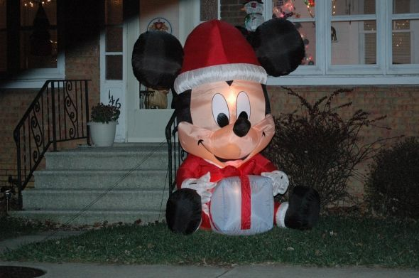 #Mickey Mouse #Christmas Lawn #Decorations