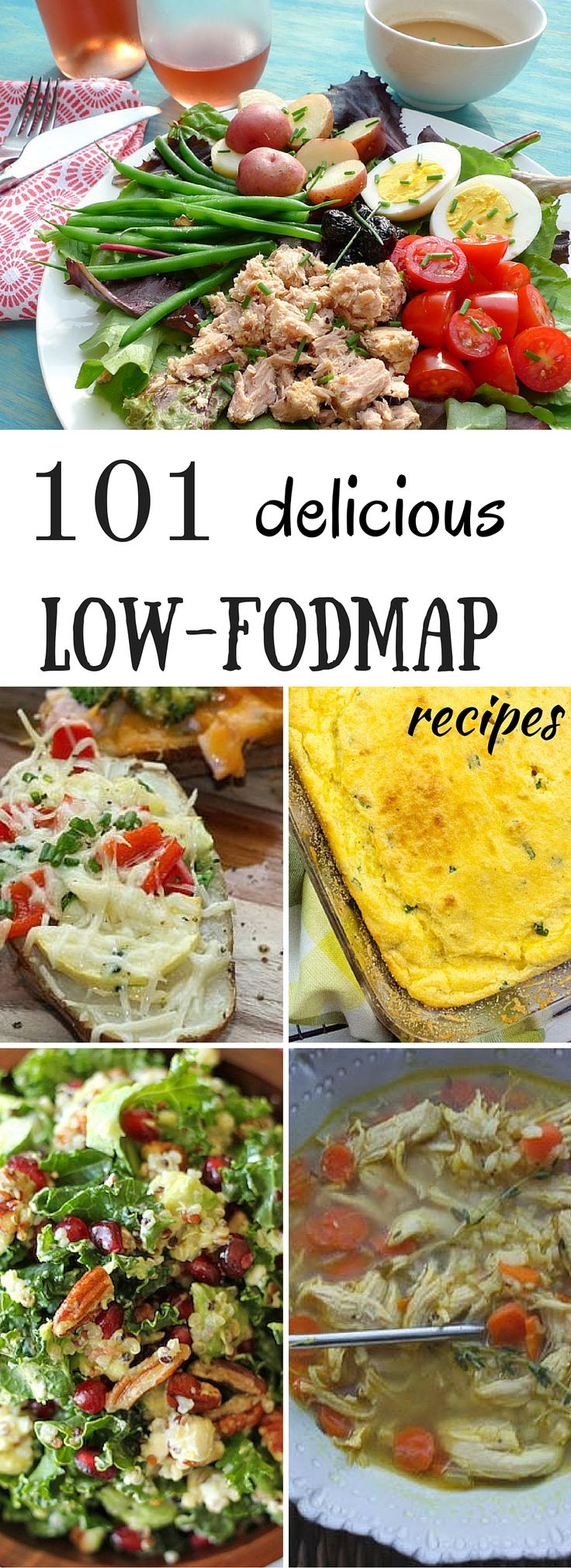 A list of 101 delicious low FODMAP recipes with photos and instructions. All the recipes are easy, and are made with healthy ingredients. | dietingwell.com