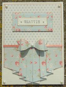 Sannes scraphörna: Pleated cards
