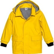 Petit Bateau's yellow raincoat for kids will always be stylish and it keeps them dry and warm