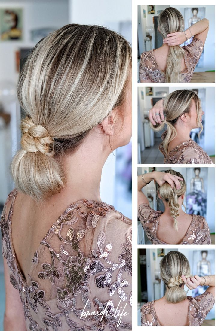 12 Steps Hairstyles Instructions: Elegant bun at the nape in 12