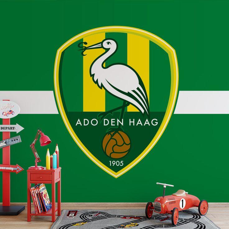Fotobehang Ado | Maak het jezelf eenvoudig en bestel fotobehang voorzien van een lijmlaag bij YouPri om zo gemakkelijk jouw woonruimte een nieuwe stijl te geven. Voor het behangen heb je alleen water nodig!   #behang #fotobehang #print #opdruk #afbeelding #diy #behangen #voetbal #club #supporter #groen #geel #ado #den #haag #denhaag #sport