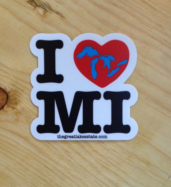 Ink detroit i love michigan sticker