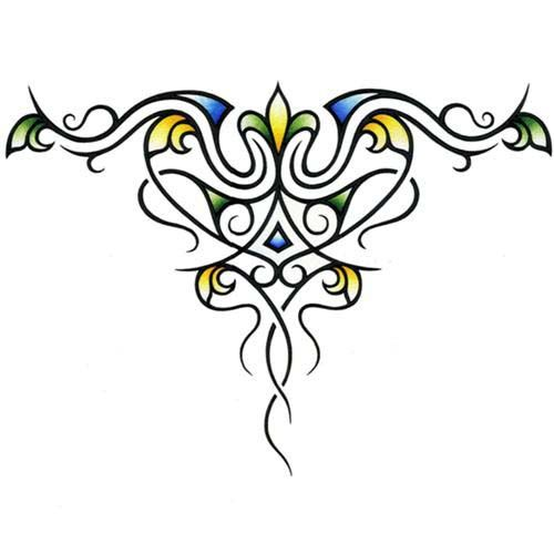 Decorative Tribal Upper Back Tattoo Design by JSHarts.deviantart.com on @deviantART