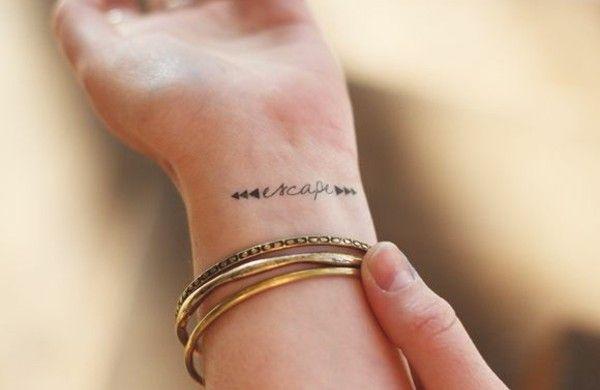 handgelenk tattoo sprüche flucht