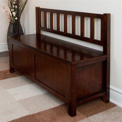 Simpli Home AXCBEN002 Artisan Entryway Bench, Medium Auburn - Home Furniture Showroom