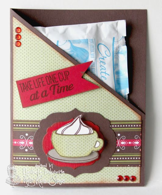 E Creations - Coffee hot chocalote gift One cup at a time