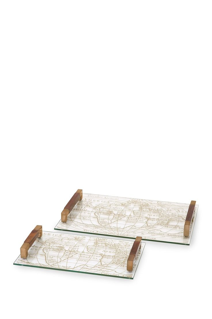 Beth Kushnick Glass Trays - Set of 2 by Imax on @HauteLook