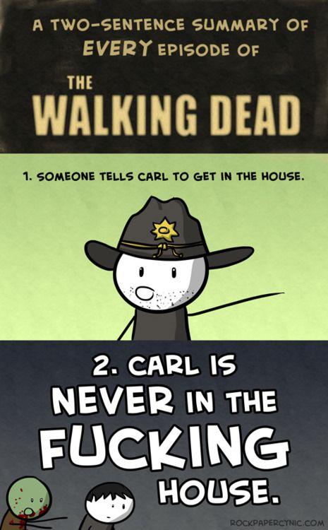 Damn it Carl, get with the program!: Thewalkingdead, Carl, The Walking Dead, Funny Stuff, So True, Zombies