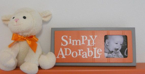 Orange Gray  Orange Baby Nursery Decorations  Sign by NelsonsGifts, $16.95