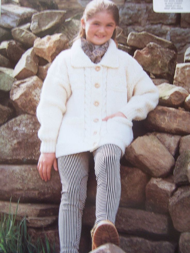 "Knitting Pattern Sirdar 4896 GIRLS CHUNKY JACKET Highlander Lopi 22-30"" in Crafts, Knitting, Patterns | eBay"