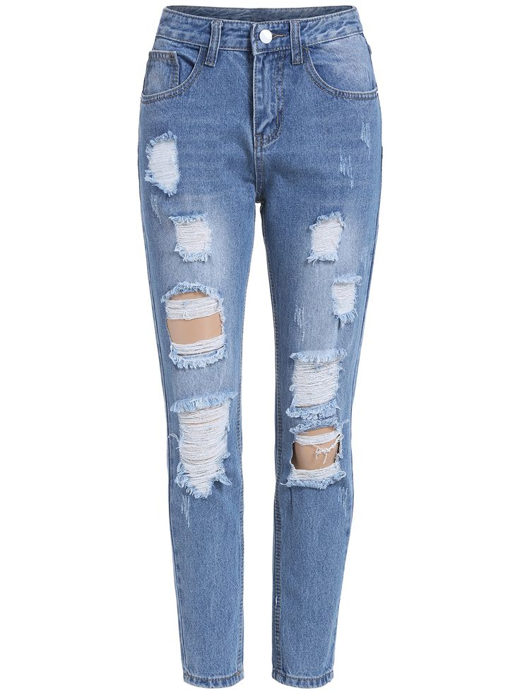 Ripped Denim Blue Pant 17.67