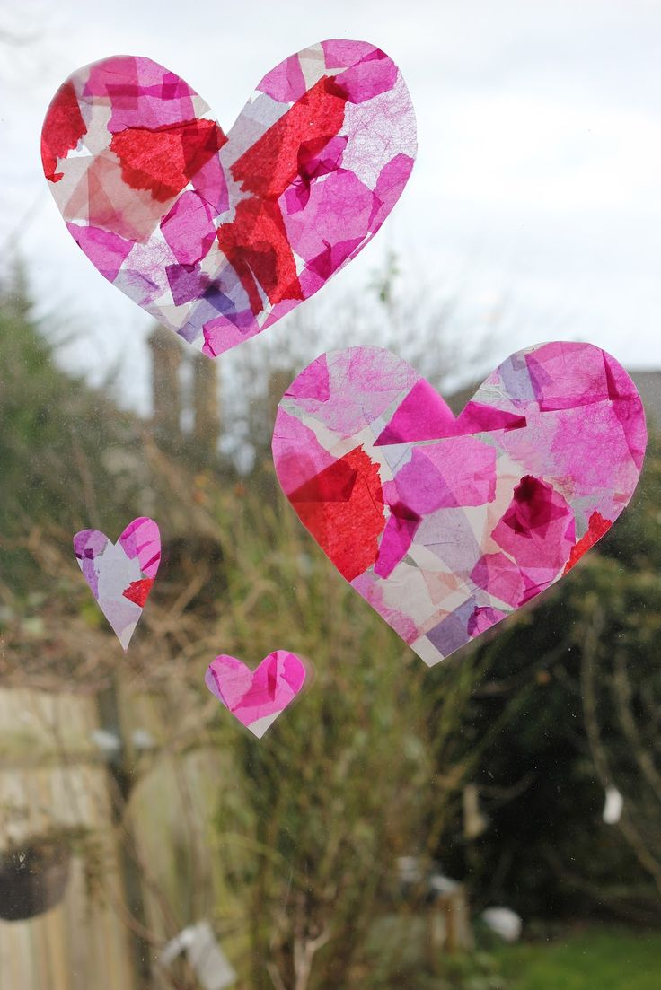 valentine's day tissue paper flowers