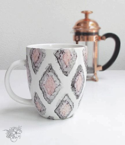Cute and Easy DIY Sharpie Watercolor Mugs that will actually last!