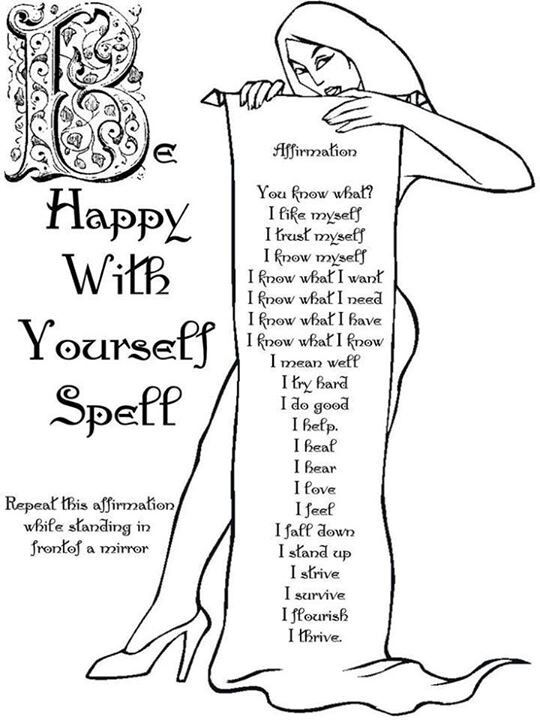 Magick Spells:  Be Happy with Yourself #Spell.