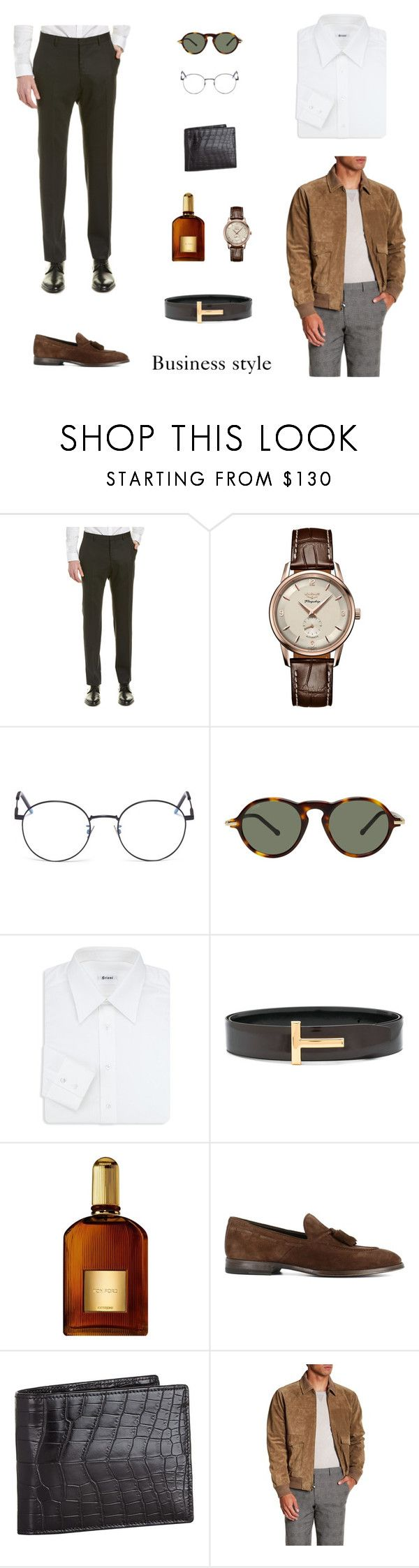 """Fashion"" by votonaire on Polyvore featuring Zegna, Longines, Yves Saint Laurent, Loewe, Brioni, Tom Ford, Henderson, Zilli, Vince и men's fashion"