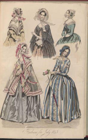 Female costumes, 1835-1843, Plate 051.  Metropolitan Museum of Art (New York, N.Y.). Thomas J. Watson Library. Costume Institute Fashion Plates. #fashion