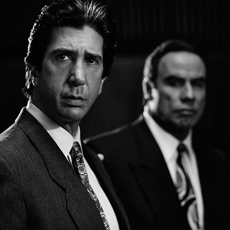 "David Schwimmer y John Travolta en ""American Crime Story: The People v. O.J. Simpson"", 2016"