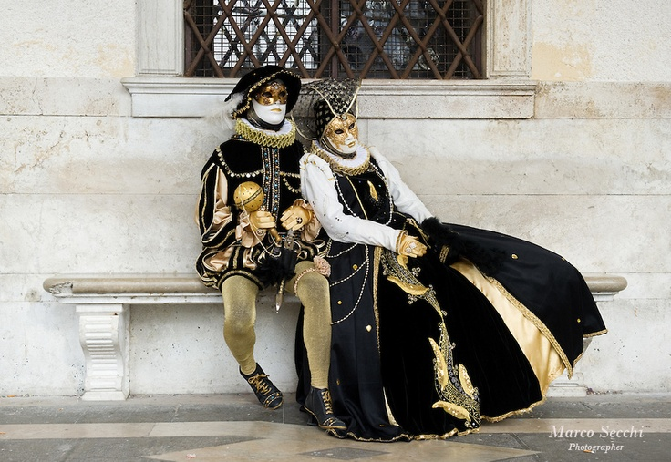 venice carnival costumes | VENICE, ITALY - MARCH 02: Carnival costumes and masks pose near St ...