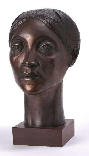 Elizabeth Catlett (1915-2012) Glory Portrait Bust 1981 cast bronze