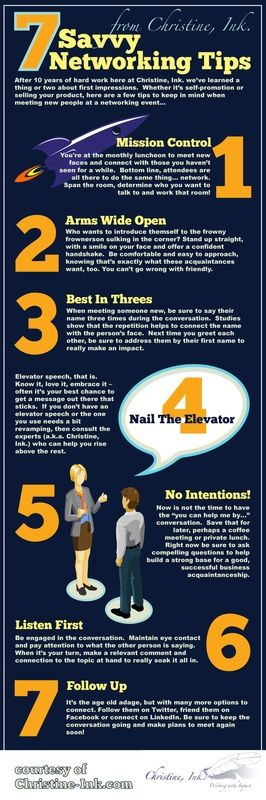 Infographic: Business Networking Tips. [repined by http://www.kickresume.com]