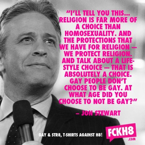 Jon Stewart just hit the entire issue right out of the park.  There are only two reasons to get behind marriage equality:  1.  It is the right thing to do.  2.  It really pisses off the ayatollahs, mullahs and radical clerics of the christian right.
