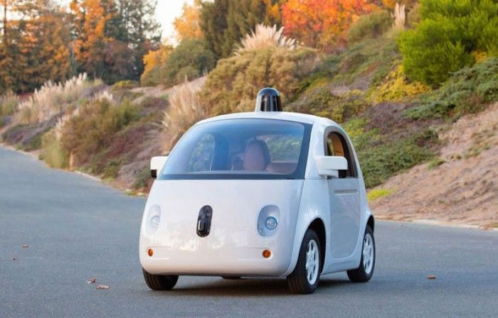 First picture of car production version autonomous Google http://www.disauto.net/researchers-google-invented-car-can-move-without-help-man/