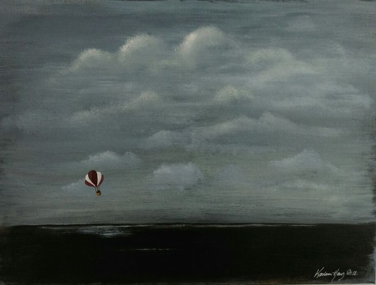 Painting by Karianne Haug. The sky is the limit...