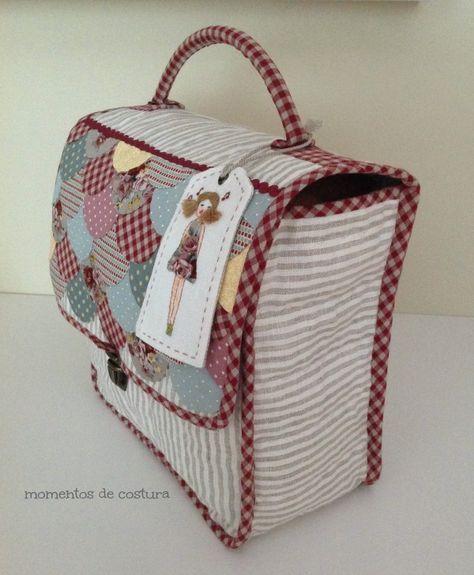 La funda de tu máquina puede tener el estilo que deseas. #quilt #patchwork #maleta