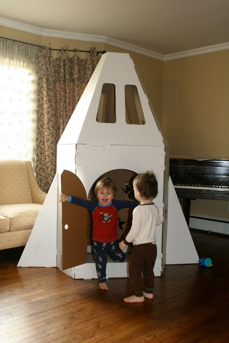 How To Make Cardboard Spaceship Cardboard Playhouses By