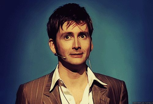 Having a bad day? Here's a gif of David tennant smiling. - Imgur seriously his smile is chocolate, chocolate and puppies