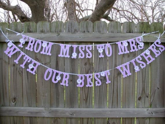 Miss To Mrs Sign Miss To Mrs Banner Custom Miss To by BannerBlitz