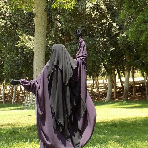 <3 Gorgeous Flowing Purple Jilbab and Extra Long Niqab <3